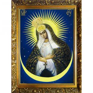 АЛМАЗНАЯ МОЗАИКА «ОСТРОБРАМСКАЯ ИКОНА БОЖИЕЙ МАТЕРИ» 30X40 СМ, 34 ЦВЕТА 21552